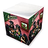 Home of Rottweilers 4 Dogs Playing Poker Note Cube