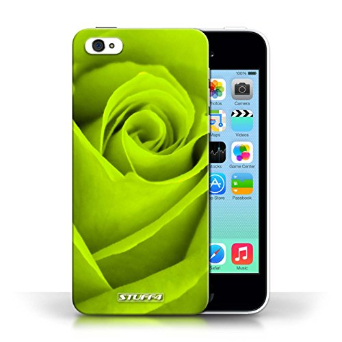 Etui pour Apple iPhone 5C / Vert conception / Collection de Rose