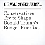 Conservatives Try to Shape Donald Trump's Budget Priorities | Nick Timiraos,Kristina Peterson,Richard Rubin