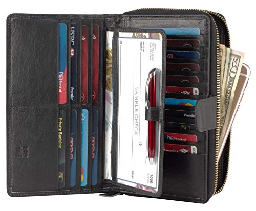 Mou Meraki Big Fat RFID Blocking Leather Organizer Checkbook Wallets For Women – Clutch