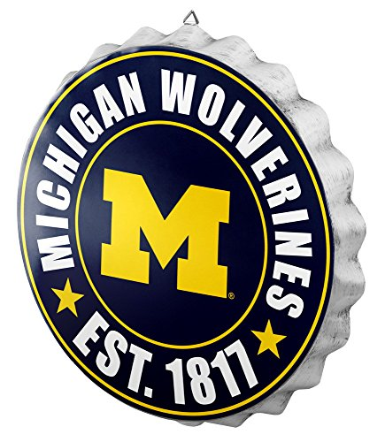 FOCO NCAA Bottle Cap Wall Sign (Decor Wall Michigan)