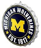 FOCO NCAA Bottle Cap Wall Sign, Michigan Wolverines