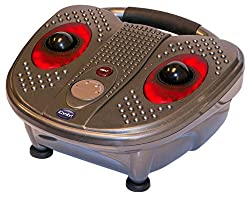 iComfort IC0924 Infrared Vibration Foot Massager with Large Massage Ball for Foot Arches, Grey