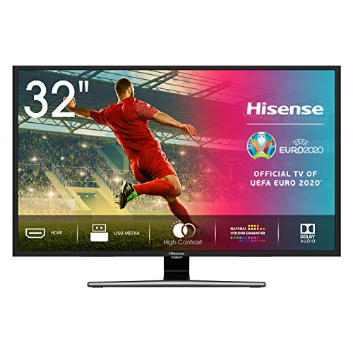 Hisense HD TV H32A5800 – Smart TV Resolución HD, Natural Color Enhancer, Dolby Audio, Vidaa U 2.5, HDMI, USB, peana…