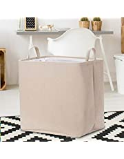 Rectangular Storage Bin,Canvas Fabric Storage Basket,Foldable Toy Storage Organizer,Waterproof Nursery Hamper for Kids Toy,Clothes,Office, Bedroom,Gift Basket