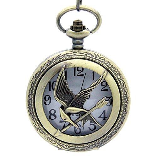 HG Antique Effect Watch Pendant Necklace Hunger Games Pendant