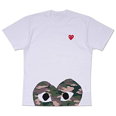 f217b230b5a6 Comme des garcons play men shirt camouflage love heart short sleeved  clothing jpg 385x385 Cdg clothing