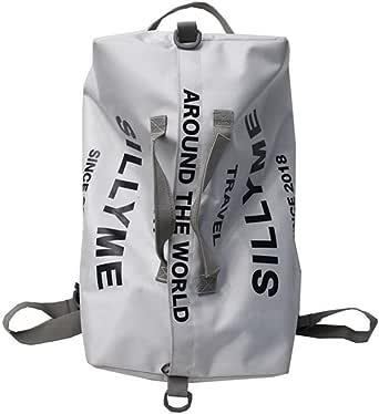 حقيبة ظهر للنساء بلون متباين نمط حرف كولوت سعة كبيرة حقيبة بريبي بسحاب