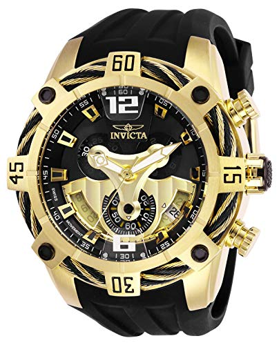 Invicta 27281 Men's Bolt Chronograph Black & Gold Dial Strap Watch ()