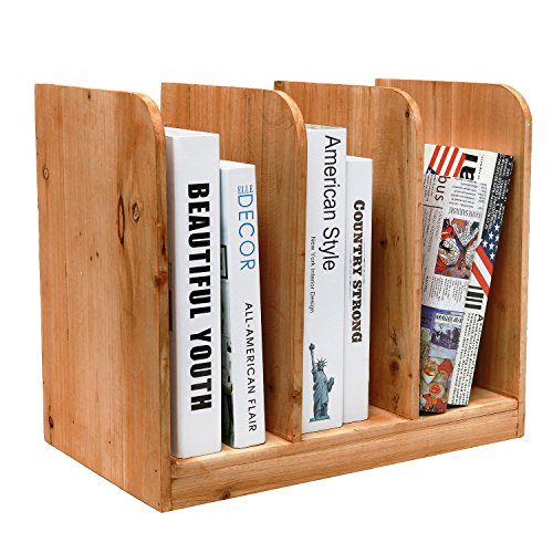 MyGift Tabletop Bookcase Document Organizer