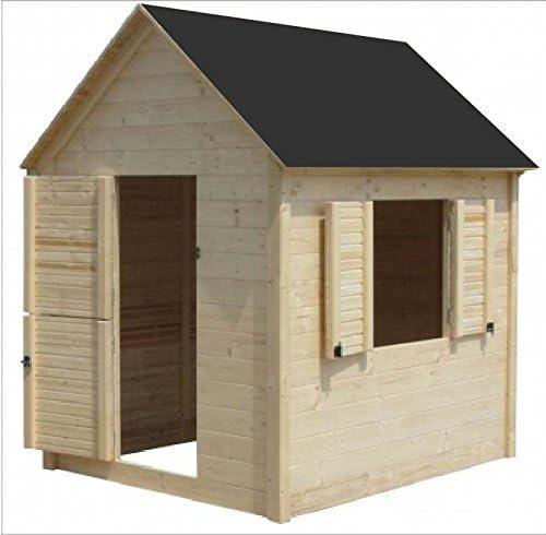 Cadema - Casita de madera de jardín para niños, 1, 7 x 1, 7 m: Amazon.es: Jardín