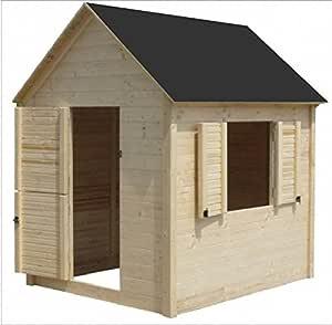 Cadema - Casita de madera de jardín para niños, 1,7 x 1,7 m