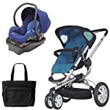 Quinny CV155BFWKT2 Buzz 3 Travel System in Blue Scratch with Diaper Bag Review