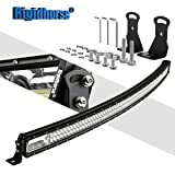 hyundai accent 2008 fog light - Curved LED Light Bar Rigidhorse Triple Row 42Inch 360W LED Work Light Spot Flood Combo LED Lights LED Bar Driving Fog Lights Jeep Off Road Lights Boat Lighting