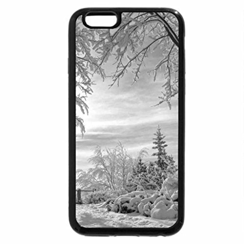 iPhone 6S Plus Case, iPhone 6 Plus Case (Black & White) - Winter Morning