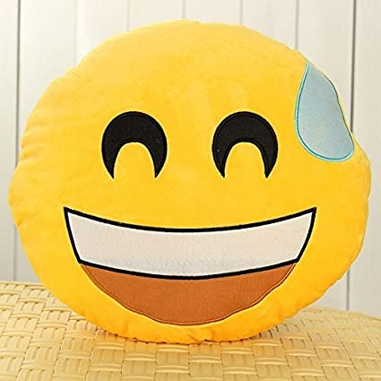 LIFECART Emoji Smiley Emoticon Ronda cojín relleno de peluche suave cara Round cojín