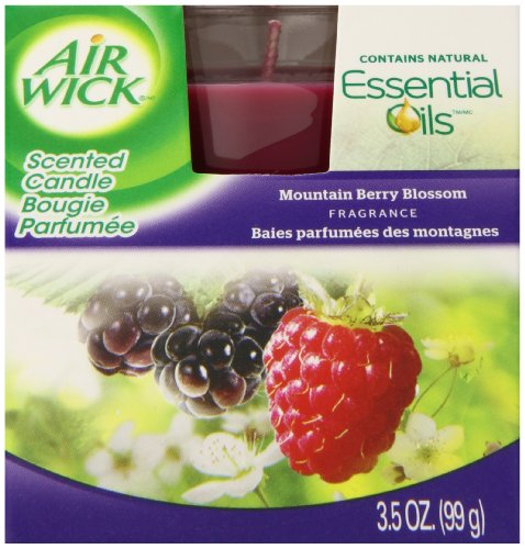 Air Wick Frosted Candle, Mountain Berry Blossom, 6ct