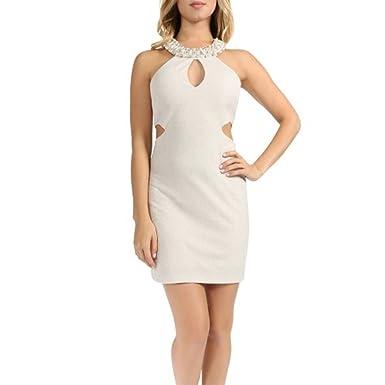 2d7d881980 Amazon.com  Teeze Me Juniors  Embellished Cutout Bodycon Dress