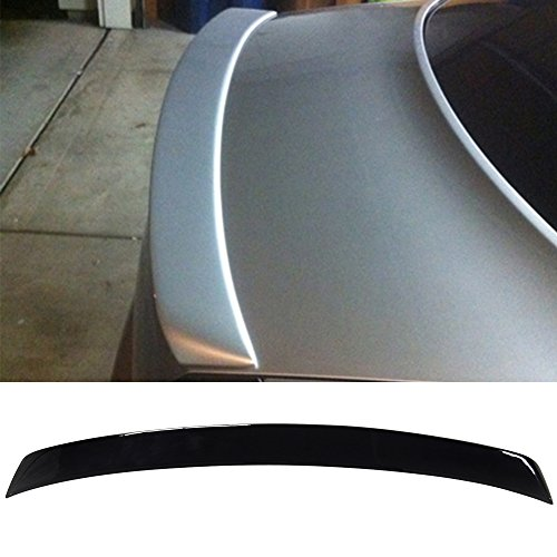 (Pre-painted Trunk Spoiler Fits 2002-2005 Audi A4 B6 | ABT Style ABS Painted # LY9B Brilliant Black Rear Tail Lip Deck Boot Wing Other Color Available By IKON MOTORSPORTS | 2003 2004)