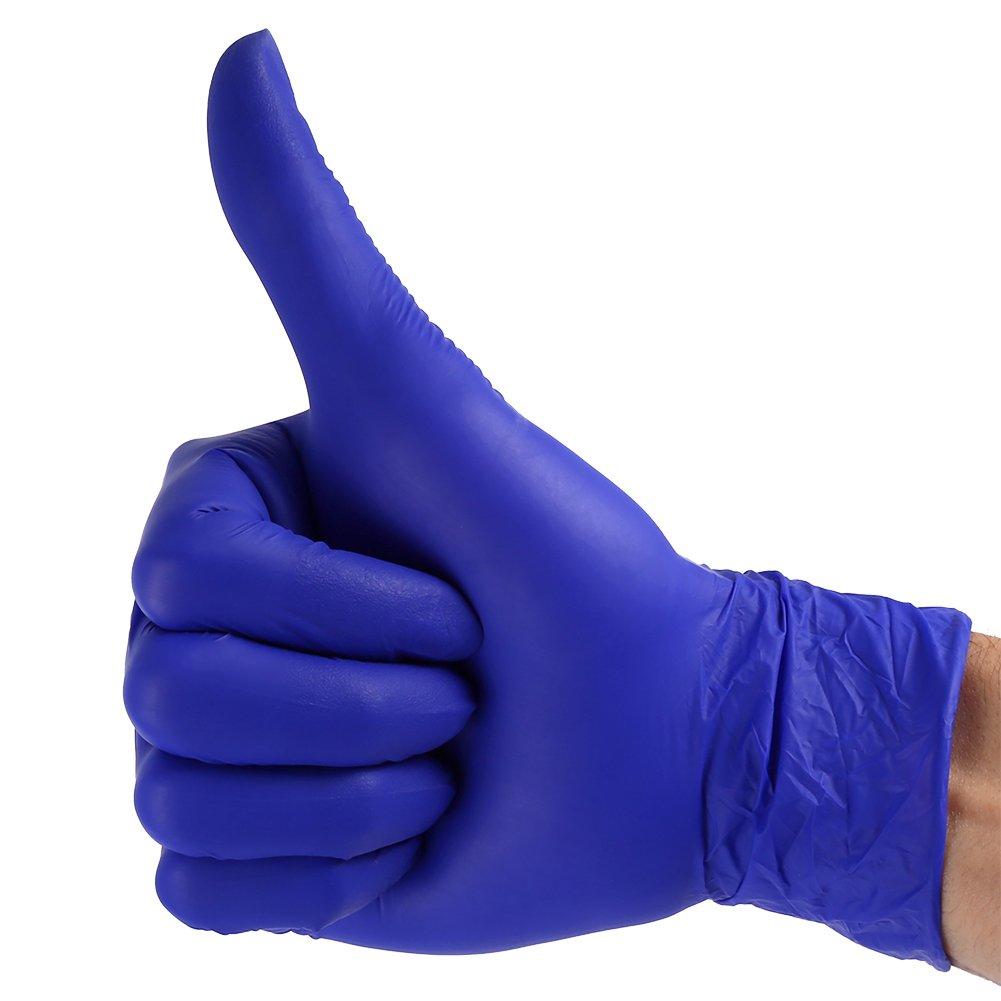 XL 100pcs gants jetables flexibles faciles /à porter sur la main nitrile non-nitrile Eco-feiendly pour m/énage cuisine nettoyage alimentaire universel