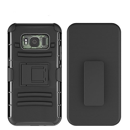 Samsung Galaxy S8 Active Case, Galaxy S8 Active Case, GPROVA [Heavy Duty] Defender Full Body Protective Hybrid Case Cover with Belt Clip for Samsung Galaxy S8 Active (Black)
