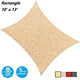 AsterOutdoor Sun Shade Sail Rectangle 10' x