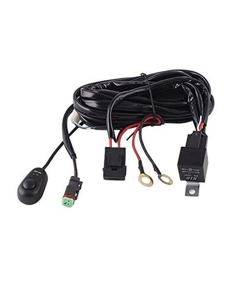 amazon com led light bar wire harness with dt plug connector rh amazon com