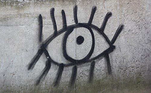 Amoeba Acrylic - Home Comforts Acrylic Face Mounted Prints Amoeba Wall Graffiti Sprayer Eye Black Spray Print 18 x 24. Worry Free Wall Installation - Shadow Mount is Included.