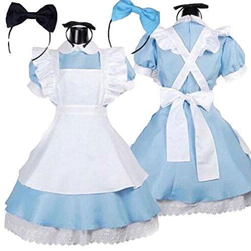 New Alice In Wonderland Costume (New Alice In Wonderland Party Cosplay Costume Anime Sissy Maid Uniform Sweet Lolita Dress (No.5))