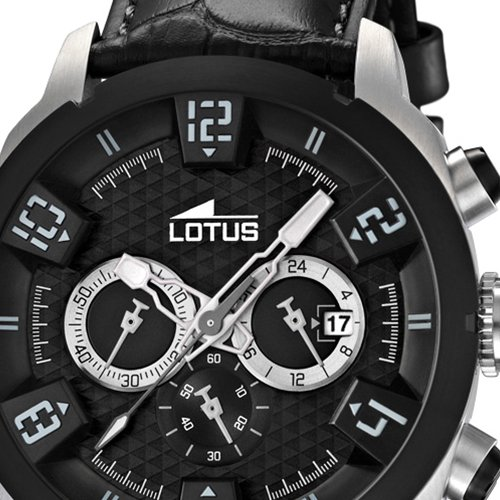 Amazon.com: Lotus Mens Quartz Watch 15787/5 with Leather Strap: Lotus: Watches
