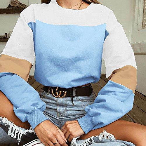 Alaix À Pour Sweatshirts Décontracté Sans Manches Sweat Bleu Femmes Longues Pullover Capuche rrwqp58
