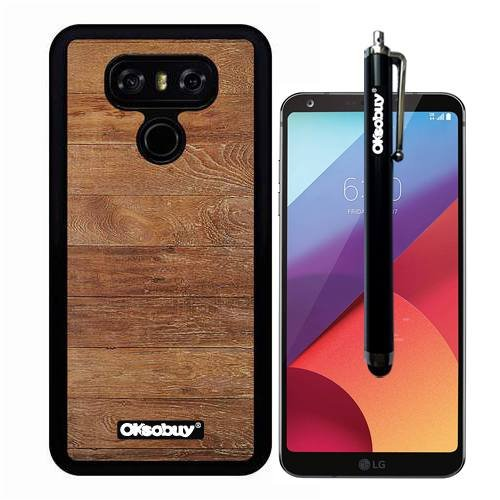 G6 Case, Weathered Plank Wood Texture Case, OkSoBuy(R) Ultra Thin Soft Silicone Case for LG G6 - Weathered Plank Wood Texture