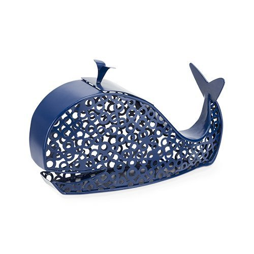 Metal Wine Cork Holder, Blue Spritz Whale Decorative Rustic Animal Cork Holder