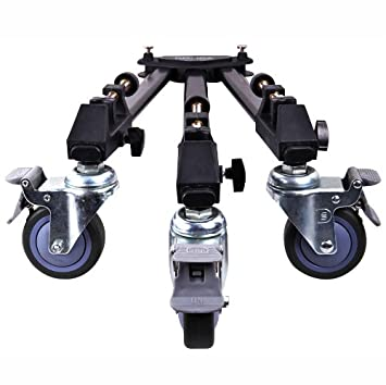 Dolica LT-D100 Professional Lightweight and Heavy Duty Tripod Dolly with Adjustable Leg Mounts Tabletop & Travel Tripods at amazon