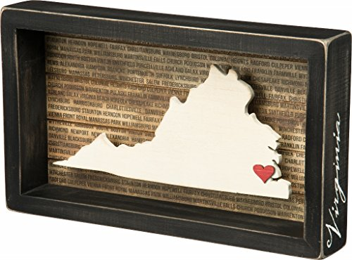 Town Sign (Primitives By Kathy Virginia State Shaped Box)