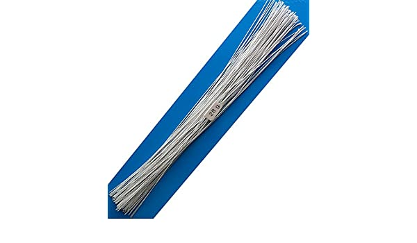 18 White Darice 32034-5 32 Gauge Cloth Covered Stem Wire 12 Pack