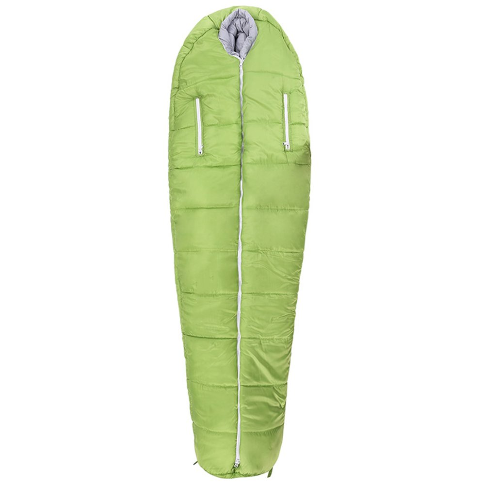 LWFB ミイラ寝袋/コットン/防水/アダルト屋外キャンプハイキング冬の厚い寝袋(2色使用可能)(210 * 80センチメートル) B07CLW7L8H 緑 緑