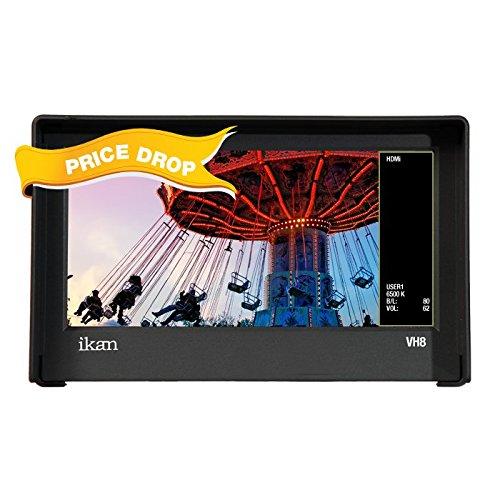 "Ikan VH8-2 8"" HDMI Monitor with HD Panel (Black)"
