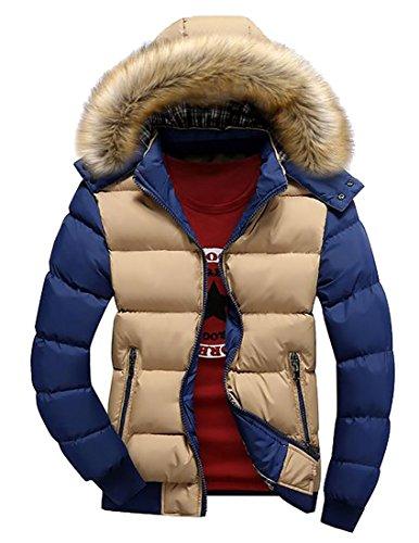 uk Di Inverno Casuale Anno Blocco Outwear Cappotto Fly Parka Mens Colore 3 Iwaq57