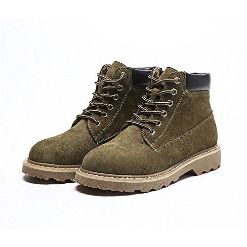 Stivaletti ArmyGreen di stivali corto e tubo europei Martin americani wOTwrq6