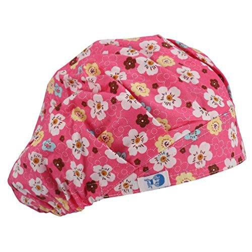 Red Scrub Hat (Guoer Women's Medical Bouffant Scrubd Hats One Size Red Love)