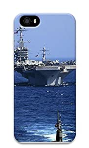 iPhone 5 5S Case Modern military aircraft carrier 3D Custom iPhone 5 5S Case Cover