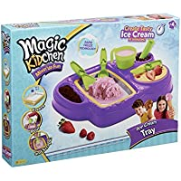 Little Kids Magic Kidchen Make Your Own Ice Cream with Real Food Ingredients Kid Friendly Cooking Activity Ice Cream Tray Toy, Purple