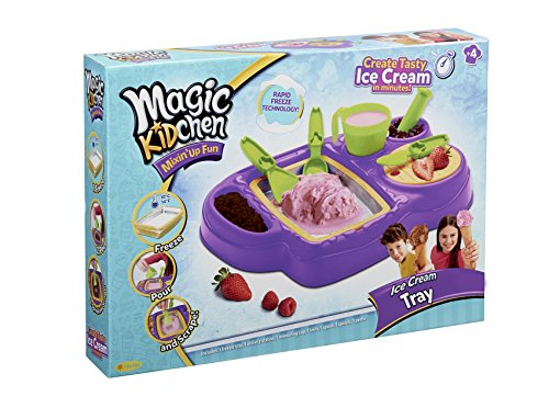 - Little Kids Magic Kidchen Make Your Own Ice Cream with Real Food Ingredients Kid Friendly Cooking Activity Ice Cream Tray Toy, Purple