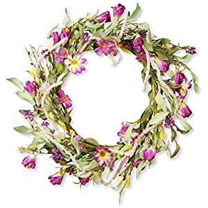 National Tree Company 20 in. Berry Mixed Flower Wreath 98