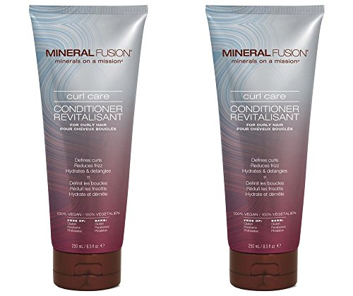 Mineral Fusion Curl Care Conditioner (Pack of 2) with Certified Organic Aloe Vera Leaf Juice, Malachite Extract, Smithsonite Extract, Linseed Oil, Olive Oil, Argan Oil and Dog Rose Oil, 8.5 fl. oz.