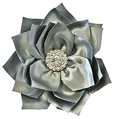 Silk Peony Flower Handcrafted Hair Clip Rhinestone Bridal Bridesmaid Flower Girl Hair Accessory