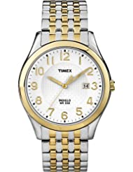 Timex Men's T2P202GP Dress Classic White Dial and Two-Tone Expansion Band