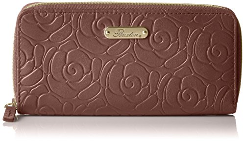 rose-garden-slim-double-zip-peneedle-wallet-brown-one-size