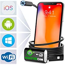 Endoscope Inspection Camera - Wireless Endoscope - Snake Camera Iphone 6 7 8 X Android IOS - USB Borescope Endoscope - Wireless Waterproof Home Automotive Vehicle Welding Digital LED WiFi Endoscope HD